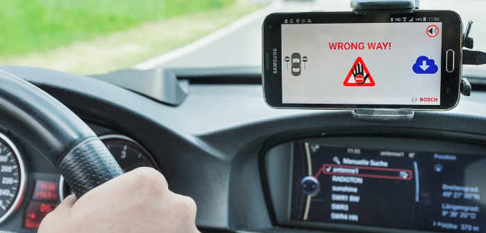 Bosch expanding coverage of its wrong-way driver alert system
