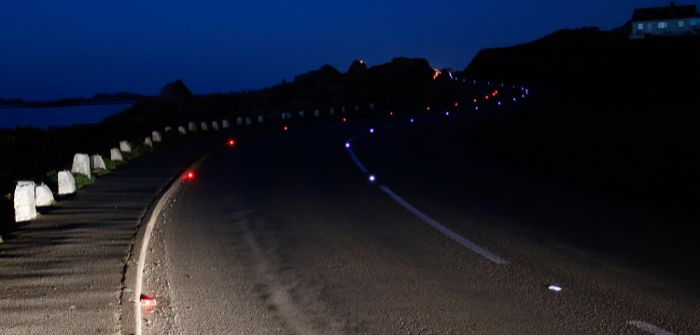 LED road studs improving road safety in the Channel Islands