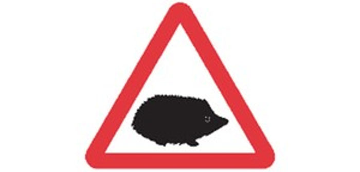 UK launches new hedgehog road sign to improve safety and protect animals