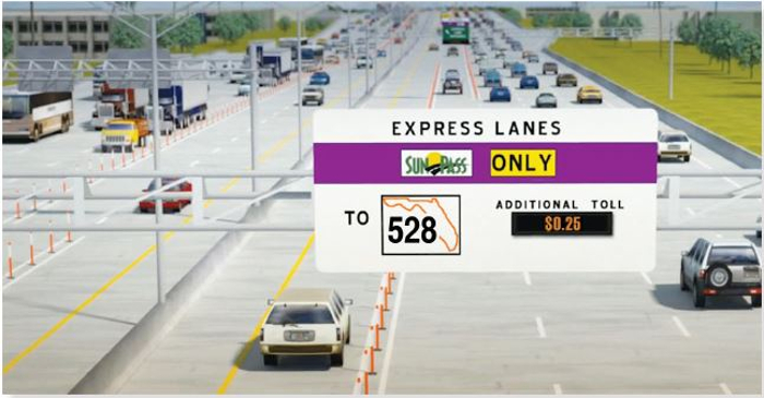 Florida opens new Express Lanes on the Beachline Expressway/SR 528