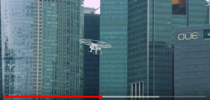Volocopter completes first ever public test flight of air-taxi 'passenger drone' in Singapore