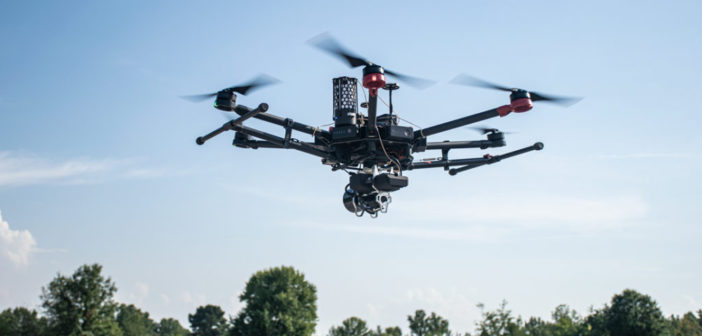Quanergy lidar sensor integrated with GeoCue's drone mapping system