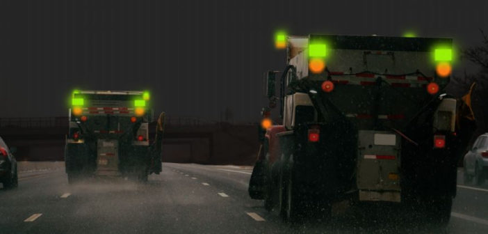 Maine adds new flashing green lights to snowploughs this winter
