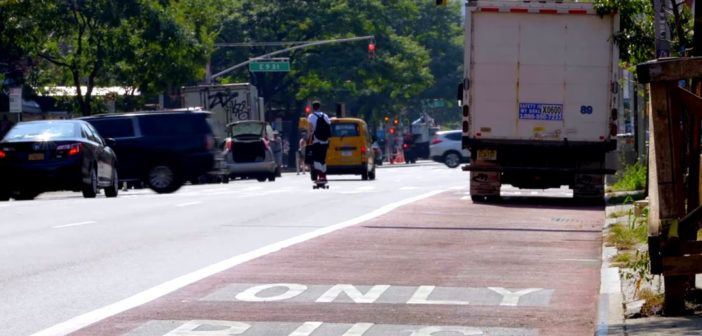 Vehicle-mounted cameras start issuing bus lane violations in New York City